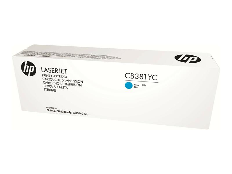 HP Optimized Yield Cyan Contract Original LaserJet Toner Cartridge (CB381YC) _719F