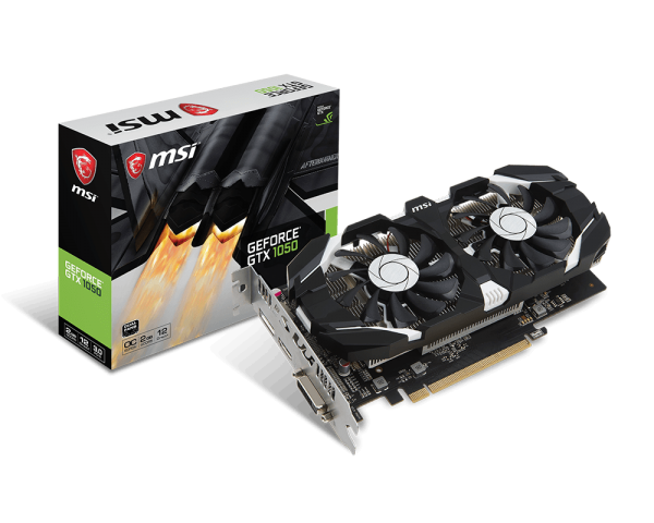 VGA MSI NVIDIA® GeForce® GTX 1050 2GB GDDR5 (GeForce GTX 1050 2GT OC (2 fan )) _1118KT