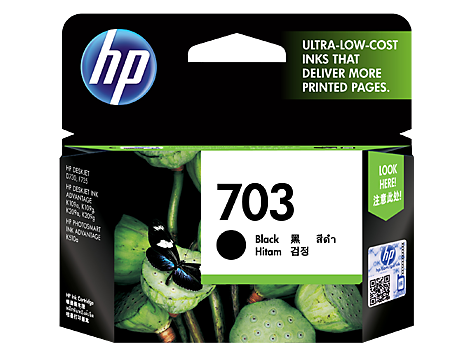 HP Deskjet 703 Black Ink Cartridge (CD887AA) EL