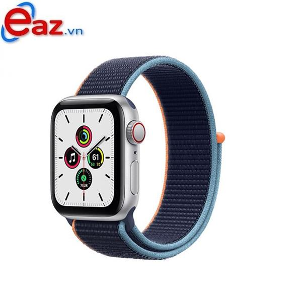 Apple Watch SE GPS + Cellular 44mm MYEW2VN/A Silver Aluminium Case with Deep Navy Sport Loop | 1120D