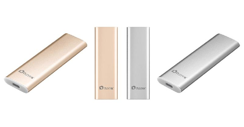 Plextor EX1 128GB SSD Portable External USB 3.1 Gen2 Type C (Gold & Silver)