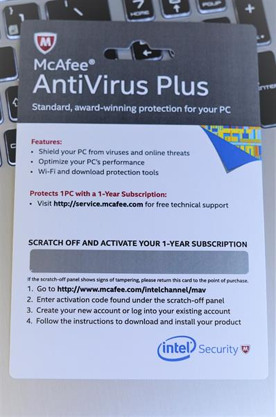 McAfree AntiVirus Plus 1 Year - 1 PC