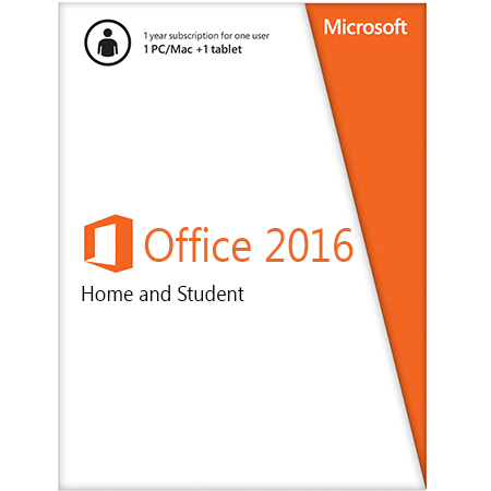 Office Home and Student 2016 Win English APAC EM Medialess (79G-04679)