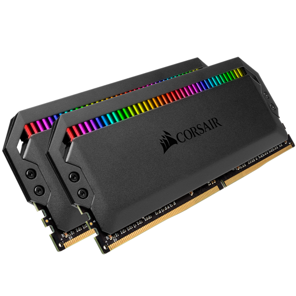 Ram PC Corsair Dominator Platinum RGB (2x16) 32GB Bus 3200 C16 (CMT32GX4M2C3200C16) _919KT