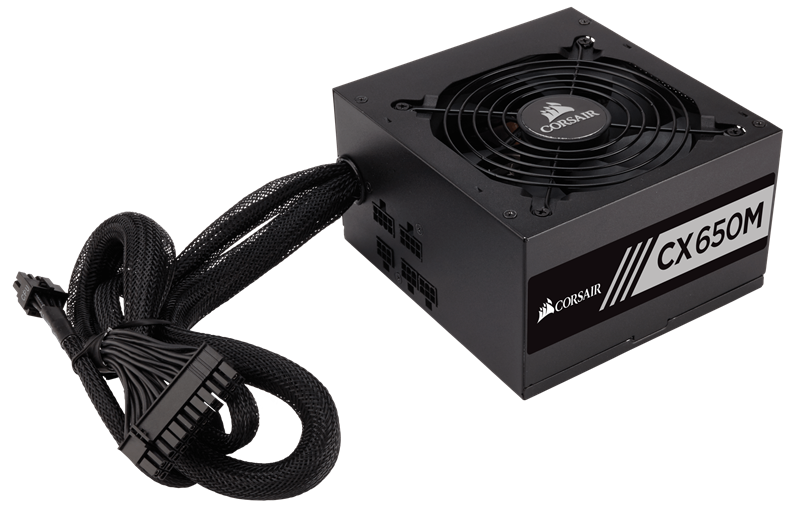 Corsair CX650M (CP-9020103-NA) 650 Watt 80 PLUS® Bronze Certified Modular ATX PSU _919KT