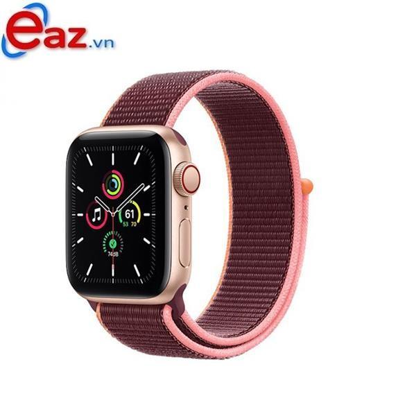 Apple Watch SE GPS + Cellular 40mm MYEJ2VN/A Gold Aluminium Case with Plum Sport Loop | 1120D