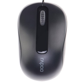Mouse RAPOO N1190 (16118) Wired Optical Mouse USB_Black_16041WD