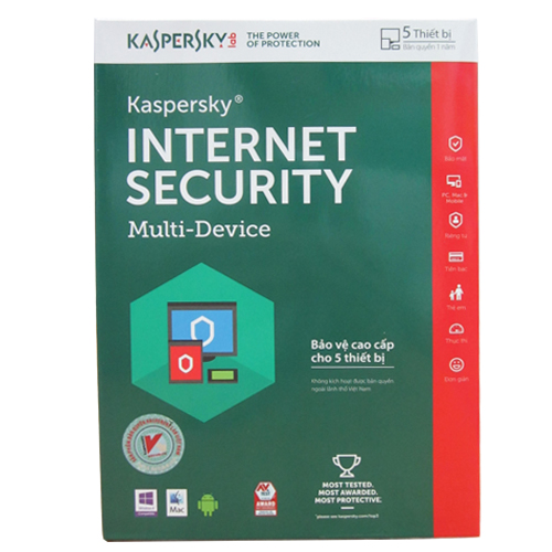 Kaspersky Internet Security 2020 5PC / 1 Year